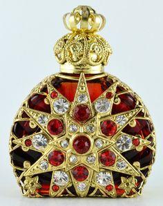 Vintage Vanity Perfume Bottle Gold Tone Filigree by chicandcharm, $29.00
