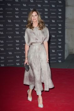 Trinny Woodall @ The Glamour of Italian Fashion, dress over trousers