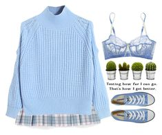 """blue"" by songjieun ❤ liked on Polyvore featuring WithChic, Converse, Billabong and Elle Macpherson Intimates"