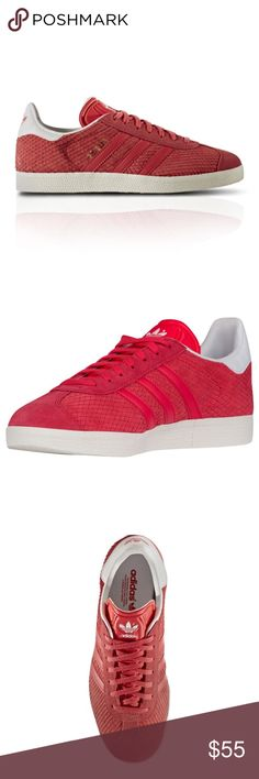 ADIDAS ORIGINALS WOMEN'S GAZELLE PINK New without box.   Color:  Pink  Fastening:  Lace Up Style:  Athletic Sneakers  Heel Height:  Flat (0 to 1/2 in.) Brand:  Adidas  Product Line:  Gazelle US Shoe Size (Women's):  US 8.5/UK 6.5/EU 39  Activity:  Basketball, Cheerleading, Dance Fitness Width:  Medium (B, M)  Features:  Lace-Up adidas Shoes Sneakers