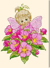 Flower Fairy Kid free baby embroidery designs hand embroidery patterns