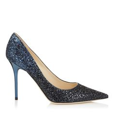 Black and Navy Coarse Glitter Degrade Fabric Pointy Toe Pumps | Abel | Pre Fall 15 | JIMMY CHOO Shoes