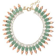 J Crew mint necklace