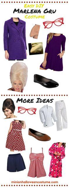 DIY Marlena Gru Costume the grandma from despicabl…