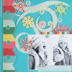 Snowflake Flurry Scrapbook Page - http://www.bhg.com/crafts/scrapbooking/layouts/holidays-seasons/winter-scrapbook-layout-ideas/?sssdmh=dm17.714200&esrc=nwcu123013#page=10
