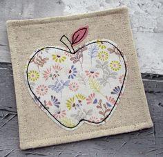Apple Coaster - Fabric Coaster - Thank You gift £5.50