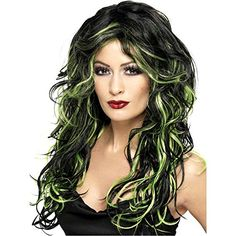 Gothic Bride Black and Green Wig - One Size >>> Find out more about the great product at the image link.