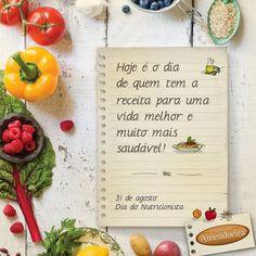 Parabéns a todos os Nutricionistas pela grandiosa parceria de transformar a alimentação em qualidade de vida.