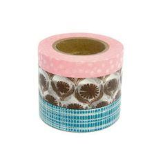 washi tapes / masking tapes  set of 3  Lotta by yur1kub0 on Etsy, £5.70