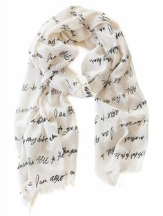 The ABLE Scarf – designed by Erin Loechner | liveafashionABLE.com | Lettered by Me! :)