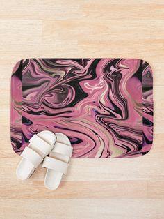 'Mixed Fluid Design' Bath Mat by Shane Simpson Fluid Design, Bath Mat Design, Bath Mats, Foam Cushions, Retro, Artwork, Prints, Color, Bath Rugs