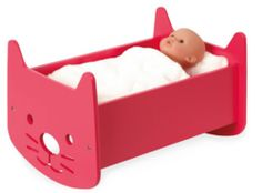 Offer little ones a colorful complimentary toy for their favorite baby doll courtesy of this gently rocking cradle. CHOKING HAZARD: Small parts. Not for children under 3 years Simple Bed Designs, Doll Bunk Beds, Alex Toys, Pet Beds, Doll Furniture, Baby Cats, Gifts For Kids, Baby Dolls, Children