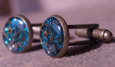 Timeless Turquoise Steampunk Cufflinks