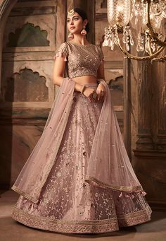 Look Pretty Attractive Wearing This Designer Lehenga Choli In Light Pink Color Paired With Light Pink Colored Dupatta. This Lehenga Choli Are Fabricated On Net Paired With Net Dupatta. It Has Heavy Embroidery Making the Lehenga Attractive. Net Lehenga, Bridal Lehenga Choli, Ghagra Choli, Anarkali, Lehenga Choli Designs, Indian Wedding Lehenga, Indian Bridal, Wedding Lehanga, Indian Lehenga