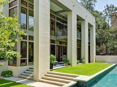 Believe it or not -- this modern home is located right in the middle of Savannah's Landmark Historic District! (Not far from Mrs. Wilkes Dining Room!)