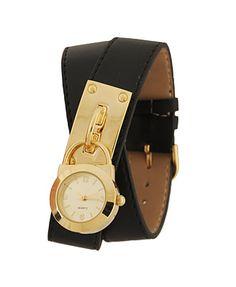 leatherette wrap watch