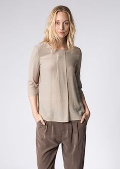 MARC O'POLO, Women, Clothing, Blouses, Blouse, in viscose crepe