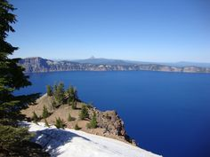 Crater Lake, Mt. Thielsen in distance