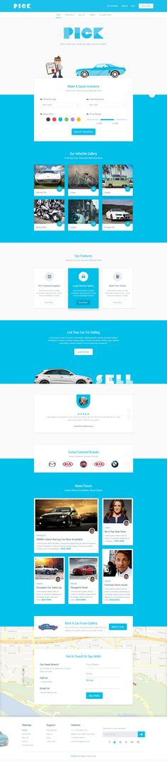 PICK Buy/Rent Car Landing Page – MaterialUp