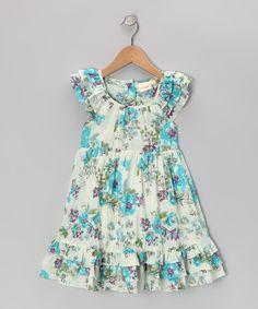 Blue Antique Floral Dress