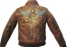 war airplne and jacket art | ... jacket art dussn puss painted jacket 600x424 WWII bomber jacket art