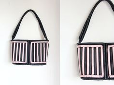 Rare vintage 1940s telephone cord purse // by TrunkofDresses