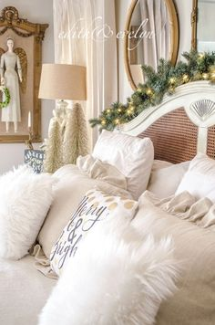 The Master Bedroom Dressed for Christmas