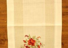 Obrus vyšívaný DM-1066 - RUŽE (40x135 cm) - červeno-biely veľkosť 40x135 cm Napkins, Tableware, Dinnerware, Towels, Dinner Napkins, Tablewares, Dishes, Place Settings