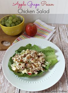 I love Chicken Salad but hate celery.  Anytime I go to a restaurant all the chicken salad sandwiches have celery in it.  That's why I have been making my own recipe for several years now.  It is so light and refreshing.  I like to serve my ch