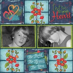 Layout made with the Art Journaling For Beginners digital scrapbooking kit from Sunshine Inspired Designs