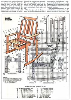 Solid Oak Rocking Chair Plans - Furniture Plans