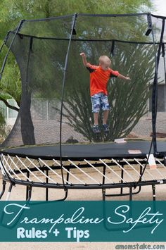 Trampoline Safety Rules - keep kids safe while having fun!