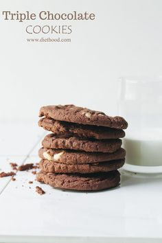 You can never have too much chocolate!! #cookies #chocolate #recipe