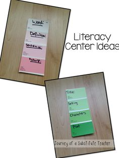 8 Paint Chips For Literacy Ideas Paint Chips Paint Chip Crafts Teaching Literacy