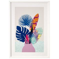 Botanical Illustration, Framed Print from Made.com. Multi-Coloured. Express delivery. Botanicals are back. These beautiful prints bring a little wil.. Frames On Wall, Framed Wall Art, Wall Art Prints, Framed Prints, Illustration Botanique, Botanical Illustration, Illustration Art, Art Tropical, Detail Art