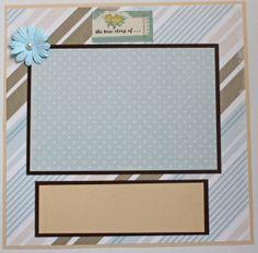 Pretty Wedding Love Scrapbook Page Brown Blue by PattiChicBoutique, $3.00