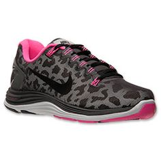 Women's Nike Lunarglide 5 Shield Running Shoes  FinishLine.com   Dark Charcoal/Black/Pink Fluo