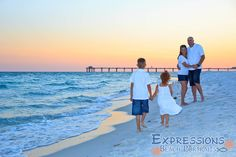 Family Beach Photography by Expressions Beach Portraits in Destin, Florida