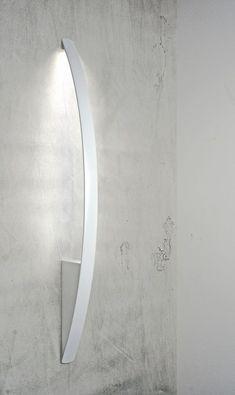 LED powder coated aluminium wall lamp SURFIN' | Wall lamp by millelumen