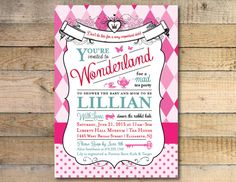 **love love love my iniviations!!!*****   Alice in Wonderland Baby Shower Invitation by GoodiesDesigns, $15.00 @Barb Peterson Peterson Brookover  @Sarah Chintomby Howell