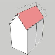 HOME DZINE Home DIY   DIY house-shaped desk for little girl