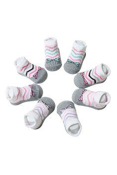 Cutie Pie Newborn 4-Pack Sarah Socks in Pink