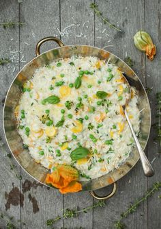 Early Summer #Risotto with New Garden Vegetable  #Herbs      #recipe #dinner #vegetarian