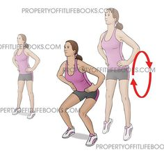 """- REPEATED BODYWEIGHT SQUAT - EQUIPMENT ✔️Your body! - 1⃣Stand straight up with your feet shoulder's width apart. 2⃣While bending at the knees, push…"""