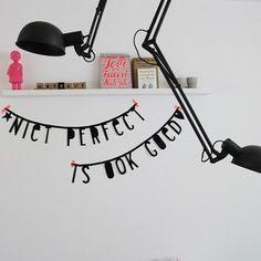 #Wordbanner #tip: Niet #perfect is ook goed - Buy it at www.vanmariel.nl - € 11,95