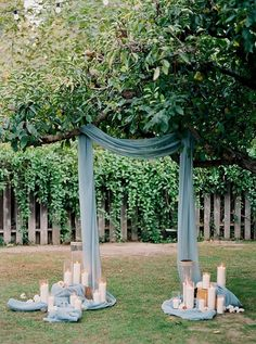 dusty blue wedding arch ideas with candles arch decorations 42 Backyard Wedding Ideas on A Budget for 2020 - Page 2 of 2 - Oh Best Day Ever Ceremony Arch, Outdoor Ceremony, Decoration Evenementielle, Photo Candles, Chic Vintage Brides, Winter Wedding Inspiration, Wedding Ideas, Wedding Details, Wedding Themes