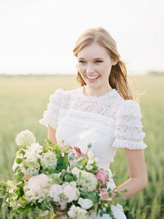 A boho bride: http://www.stylemepretty.com/vault/search/images/Wedding%20Dresses