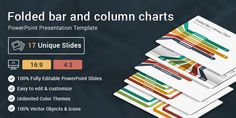 Folded Bar and Column Charts Diagrams PowerPoint Presentation Template Key Features: 17Unique & Creative slides 2 Aspect Ratio (4:3 & 16:9) Fully and Easy editable content 110+ Stunning Premade Theme colors. 5000+ Vector Icons! easily change size &…