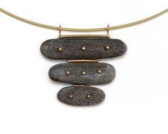 Contemporary Jewelry Design by Andrea Williams: Sa Three Stone Pendant: Sa is a…