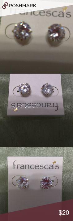 Francescas earing Cz 2k diamond earing.  New never worn. Jewelry Earrings